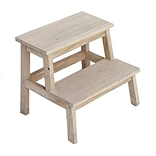 Zfggd Ladder Stool Solid Wood,Anti Slip Children's Chairs Household Bench Mazar Stool Shoe Bench Multifunction Adult Step Stool (color : Wood Color, Size : 39.5 * 35cm)