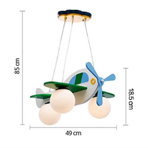 Kinderzimmerlampe Jungen-Mädchen-Schlafzimmer-Leuchter einfach und schön Cartoon Flugzeug Schlafzimmer Lichter - 4
