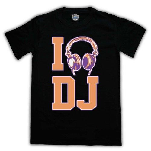 I DJ Hip Hop & House Herren T-Shirt Schwarz