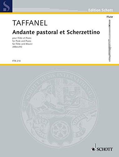 Andante pastoral et Scherzettino: Flöte und Klavier. (Edition Schott)