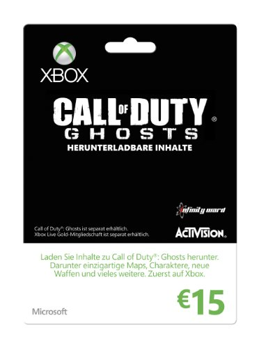 Xbox Live - 15 Euro Guthabenkarte (Call of Duty Ghosts-Design)