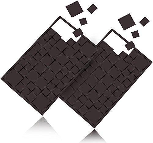 Reorda 116 Stück selbstklebende Magnet Plättchen - Individuell zuschneidbare Magnetplättchen mit höchstmöglicher Magnetstärke für Postkarten, Fotos etc. - 4 verschiedene Größen