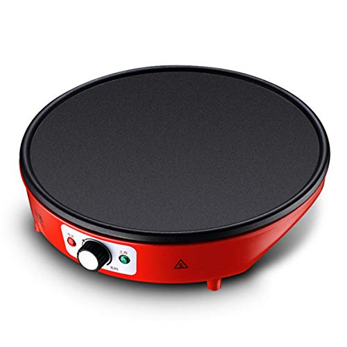 ExcLent 1200W Breakfast Crepe Maker Pancake Cooker Grill Plate Dessert Making Machine Waffle - rot