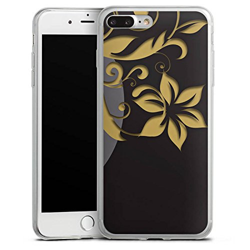 Apple iPhone X Slim Case Silikon Hülle Schutzhülle Blumen Ornamente Ranken Silikon Slim Case transparent