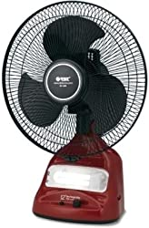Orbit RF-1295 3 Blade Table Fan(Maroon: Black) 304mm