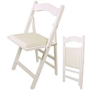 SoBuy FST06-W Klappstuhl Stuhl Holzstuhl Küchenstuhl weiß