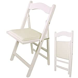 SoBuy® Sedia pieghevole, sedia da cucina, legno,bianco, FST06-W, IT