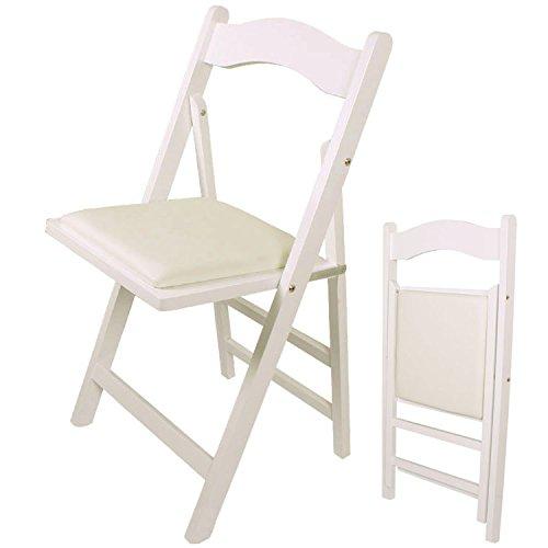 SoBuy Sedia pieghevole, sedia da cucina, legno,bianco, FST06-W, IT
