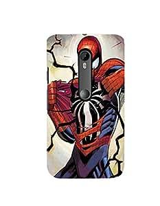 Citydreamz Spiderman Hard Polycarbonate Designer Back Case Cover For Motorola Moto X Play