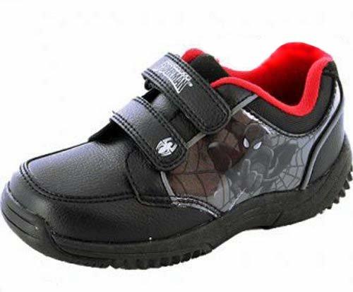 Spiderman Chaussures Fermeture Velcro Habillé École Garçon Noir