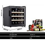 LYB Thermoelektrischer Weinschrank mit 16 Flaschen - Rot- und Weißweinschrank - Aufsatz-Weinschrank - Freistehender Kühlschrank mit LCD-Digitalanzeige £¬ Trinkutensilien/Regal aus Edel