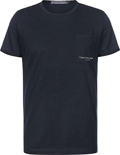 Calvin klein jeans t-shirt uomo talb slim tee j30j307428 l blue scuro