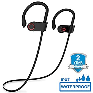 Bluetooth Headphones, ARTHOME V4.1 Wireless Headphones, In-Ear Bluetooth Earbuds, Built-in Mic, Stereo Sound, Noise Cancelling IPX7 Waterproof Sweatproof Wireless Earbuds for Running Exercising Sports