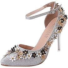Darringls_Zapatos de Invierno Mujer,Zapatillas Punta Abierta Zapatos de tacón Alto Botas Tacon Cuadrado Altas