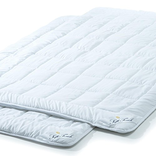 aqua-textil 2er Set, Ganzjahres Bettdecke 155x220 cm Steppdecke atmungsaktiv Kochfest, Ganzjahres Steppbett für Winter und Sommer Soft Touch 2000049