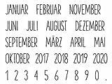 Clear Stamp-Set Stempel-Gummi - Karten-Kunst Kalender Nr. 1