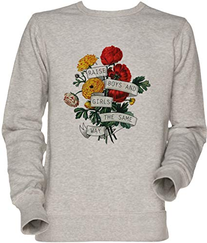 Vendax Raise Boys and Girls The Same Way Unisexo Hombre Mujer Sudadera Jersey Gris Men's Women's Jumper Sweatshirt Grey