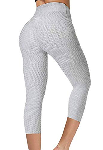 FITTOO Mallas 3/4 Leggings Mujer Pantalones Yoga Alta