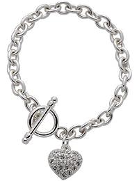 Code Red - 3071 - Bracelet Femme - Coeur - Métal - Cristal