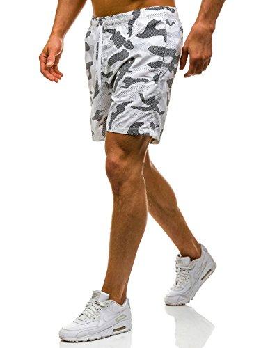 BOLF – Pantaloni sportivi – pantaloni corti – Baggy – Uomo Motivo 7G7 Nero-blanco