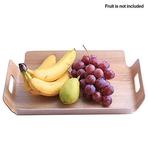 QFYUTEOPObstHolzgriffeBäckerei Tisch Tablett Frühstück Kuchen Untertasse Serving Kitchen (Kantine-set)