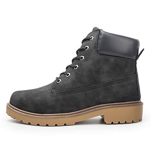 Beladla Zapatillas Hombre Impermeable Tobillo Bajo Mantener Caliente Recortar Tobillo Plano Invierno OtoñO Botas Casual MartíN Zapatos Botines para TamañO Grande Hombre Bota De Cuero Botas Militares
