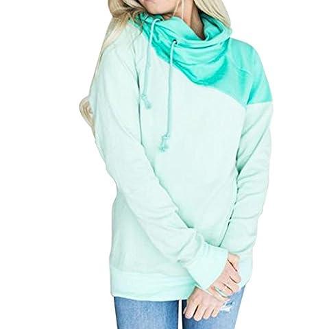 Hoodie, Sannysis Damen Kapuzenpulli Langarm Pullover Kapuzenpullover Sweatshirt (M, Grün)