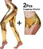 DIAMONDKIT Damen Leggings Gold Gold Small