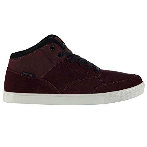 Burgund Skate (Airwalk Breaker Mid Herren Skate Schuhe Sneaker Freizeit Turnschuhe Logo Burgund 10 (44))
