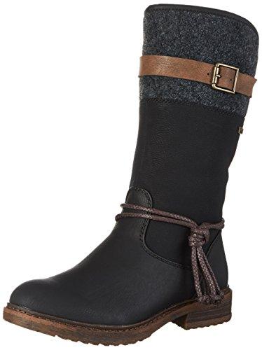 Rieker Damen 94778 Hohe Stiefel, (Schwarz/Braun/Anthrazit 00), 41 EU