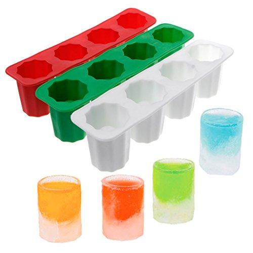 tandou Praktische Silikon 4-Cup Form Ice Cube Shot Wein Glas Freeze Form Maker Werkzeug Cube Shot Glas