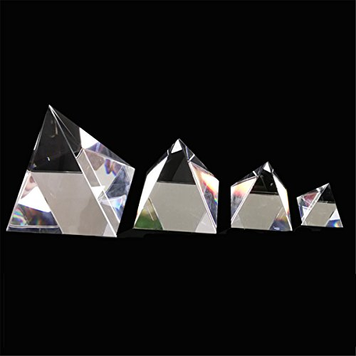 ExcLent 40/60/80/100Mm Klar Optische Glas Pyramide Kristall Prisma Optik Dekoration Ornament Diy - 100mm -