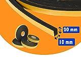 GUARNIZIONE ADESIVA NERA 10 MM ROTOLO DA 10 MTL IN NEOPRENE (Neoprene, 10 MM X 20 MM)) DI GUIDETTI SERVICE
