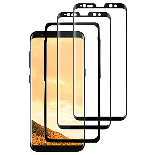 QYTECH S8 Plus Panzerglas(2 Pack)(mit Einbaupositionierer), 3D Vollständige Abdeckung/9H Härte/Anti-Kratzer Panzerglas Schutzfolie für Samsung Galaxy S8 Plus