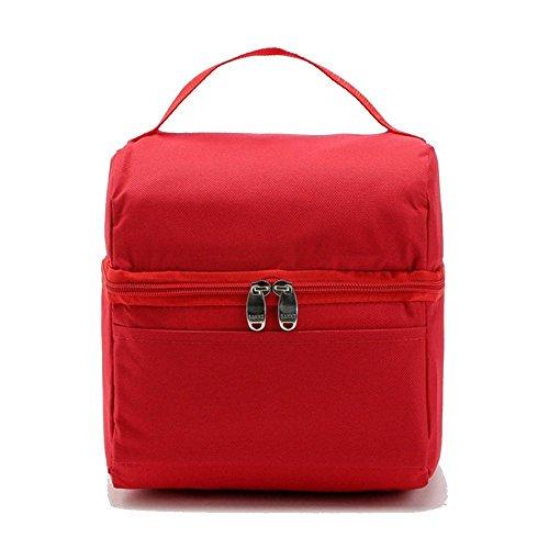 rieovo 5L portátil bolsa térmica para las mujeres/hombres bolsas de almuerzo lonchera totalizador bolso de mujer bolso de mano infantil de alimentos paquete de aislamiento/ rosso