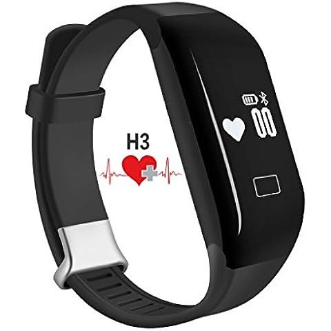 Cardiofrequenzimetro, padgene® H3 Smart-Bracciale Fitness per attività