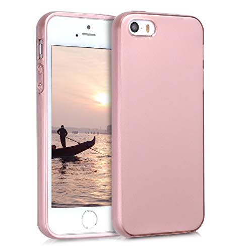 kwmobile Apple iPhone SE / 5 / 5S Hülle - Handyhülle für Apple iPhone SE / 5 / 5S - Handy Case in Hochglanz Rosegold - Iphone Cover Rosa 5