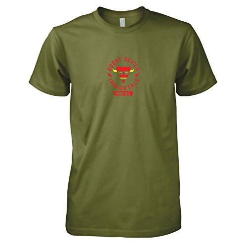 Kostüm Farnsworth Futurama - TEXLAB - Robot Hell - Herren T-Shirt, Größe M, oliv