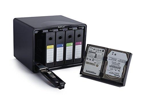 SISUN® Festplattentasche Schutztasche Schutzbox 3,5 /2,5- Aufbewahrungstasche für 3,5 / 2,5 Zoll Festplatten (5 Bay)