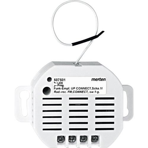 Merten 507501 Funk-Empfänger UP CONNECT, Schalter 1fach - Glühlampen-dimmer Umschalten
