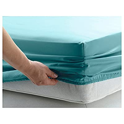 GlampTex (tm) BED SHEETS FITTED SHEETS LUXURY BEDDING SHEETS DOUBLE - low-cost UK light store.