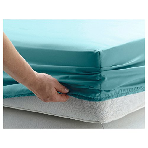 GlampTex (tm) BED SHEETS FITTED SHEET LUXURY BEDDING SHEET SINGLE DOUBLE KING SUPER KING (Pillowcase, Teal)