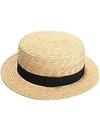 RoadRomo Donne Cappello di Paglia Lavorato a Maglia Handmade della Spiaggia  di Estate del Cappello del 7dab31ea588a