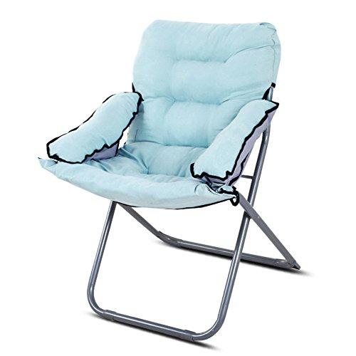 L&J Chaise de Bureau Pliante,Chaise d'Ordinateur dortoir de ménage Chaise Longue inclinable chaises de Patio pour Patio Plage Piscine extérieure Balcon Jardin Pique-Nique-Charge 150kg-A