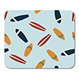 Mouse Pads Sea Red Surf with Surfboards on Blue White Graphic 90S Mouse Pad for Notebooks,Desktop Computers Mouse Mats, Office Supplies