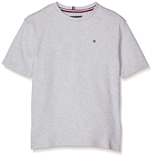 Tommy Hilfiger Jungen Boxy Back Print Tee S/S T-Shirt, Grau (Grey Heather 004), 128 (Herstellergröße: 8) -
