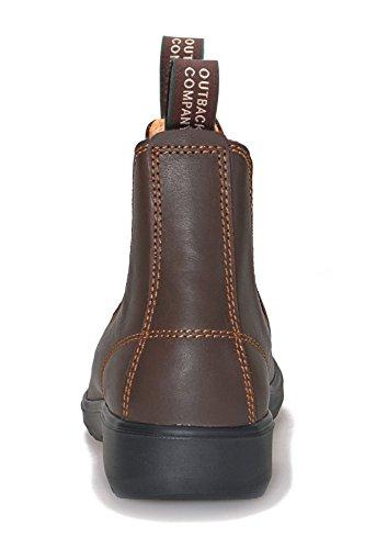 MOONAH Ladies' Town & Country Chelsea Boots Light | Chestnut Dunkelbraun (Chestnut)