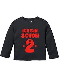 EZYshirt® ich bin schon zwei | BIO Baby T-Shirt Longsleeve
