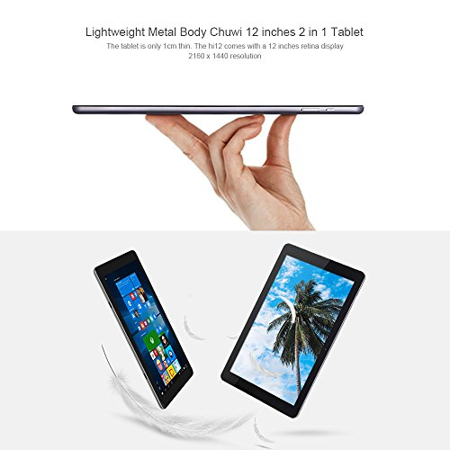 Cheapest Price for Chuwi Hi12 Tablet PC Windows 10 + Android 5.1 Intel Cherry Trail Z8350 64bit Quad Core 1.44GHz 2160 x 1440 IPS Screen 4GB RAM 64GB ROM Bluetooth 4.0(12.0 inch) Special