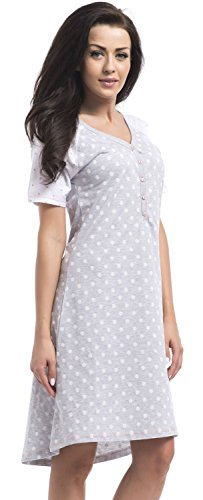 dn-nightwear - Chemise de nuit spécial grossesse - Femme - grey melange P